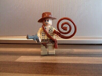 COMPLETE Lego Indiana Jones Minifigure Tan Shirt from set 7195 iaj020 VGC