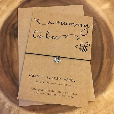 Mummy To Bee Be Pregnancy Congratulations Charm Wish Bracelet Baby Shower Gift
