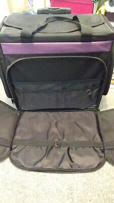 "Used VGC Just Stow It Roller Board Art Tote-19.5""x17.5""x10.5"" Black"
