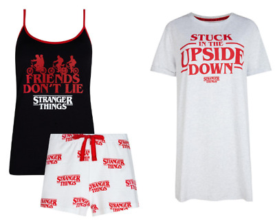 Stranger Things Women's Pyjama Set OR Nightie Ladies Primark PJS Eleven New