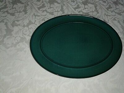 Denby Greenwich Green Oval Platter 14.5  Inches X 11 Inches
