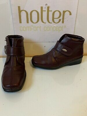 Hotter Abbey Leather Boots Size UK 4 EU 37 Extra Wide