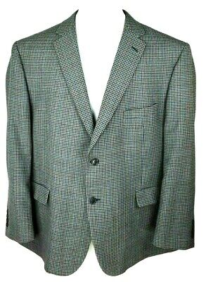 Jos A Bank Mens Sport Coat Jacket 50R Traveler Collection Tailored Fit Wool Gray