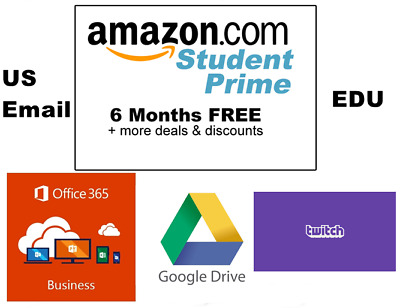Edu Email Student ✅6 Months Amazon Prime✅1TB ONE DRIVE✅Office 365 ✅OUTLOOK LOGIN
