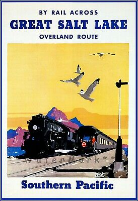 Southern Pacific Railroad Train Salt Lake Utah New Retro Poster Art Print 108