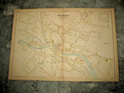 1895 Westerly, Ri., Map Removed From The Everts & Richards Atlas Of 1895
