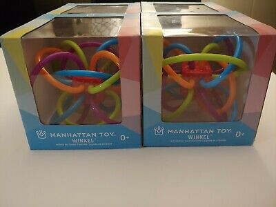 Lot of 4 Manhattan Toy Winkel Rattle and Sensory Teether Baby Toys NEW IN BOX