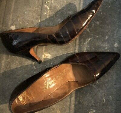 Vintage THAYER McNEIL Alligator Shoes Size 7 1/2 Over 50 Years Old! Gorgeous 🐊