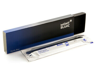 Montblanc Rollerball Pen Pacific Blue Color Medium Size Capless System Refill