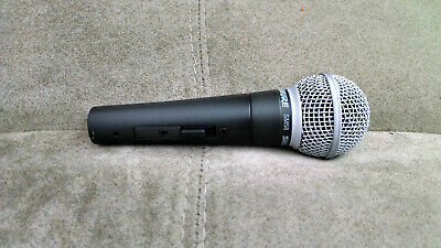 Used Shure SM58 S Wired Microphone (XLR 3-Pin Pro Vocal Mic)
