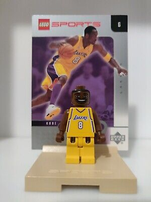 Lego Kobe Bryant #8 Minifigure 2002 Yellow Lakers Jersey  Lego 3563 Upper Deck