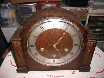 """Smiths """"Monmouth"""" Westminster Chiming Mantel Clock In Need Of Refurbishment."""
