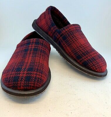 Woolrich Wool Men's Chatham Chill II Red Hunting Plaid Slippers, size 9 42 $89