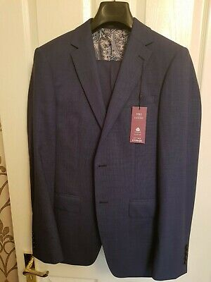 New Marks & Spencer Navy Blue Suit. Jacket 38R Trousers 33W