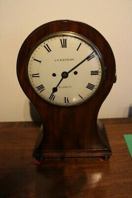 Mahogany Twin Fusee Regency Bracket Clock By J Nicholas Daventry