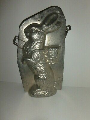 XRARE Antike Schokoladenform RIESEN HASE antique chocolate mold REICHE 26945