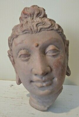 Ancient Style Ghandaran Terracotta Head Fragment - Afghanistan/Pakistan