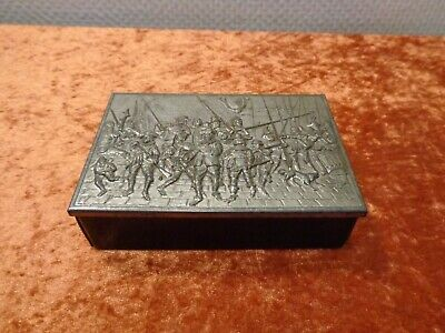 Cardboard Container with Metal Lid - Knight/Soldiers - Vintage