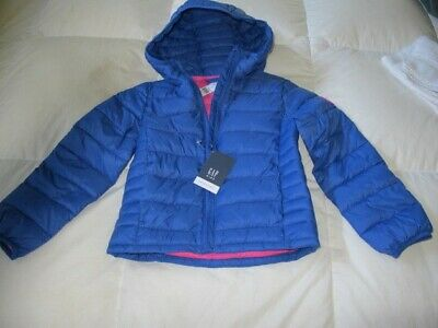Gap Kids Girls Coldcontrol Puffer Jacket - Blue/Pink - Size S - Nwt