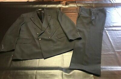 Stafford Men's Double Breasted 2 Pc Black Suit EUC NICE!