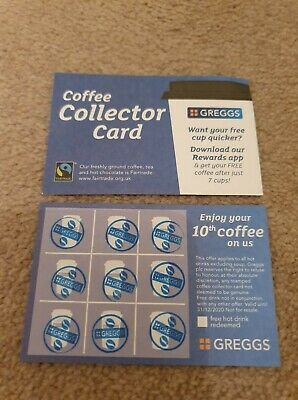 🔺25 Greggs Collector Cards🔺 exp 30/12/20🔺