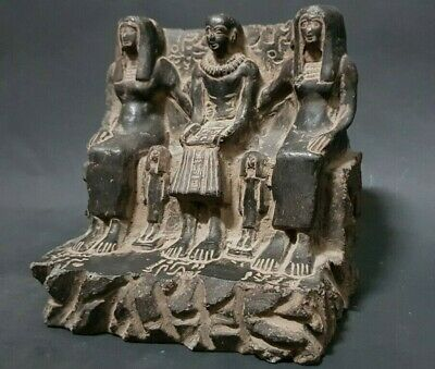 Rare ANCIENT EGYPTIAN ANTIQUES Priest Ptahmai Egyptian Family EGYPT Stone 300 BC