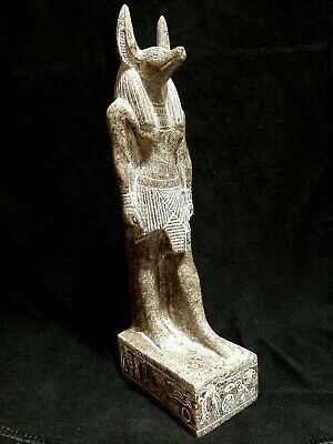 ANCIENT EGYPTIAN ANTIQUES Rare Egypt Statue Of God ANUBIS Granite Egypt Stone BC