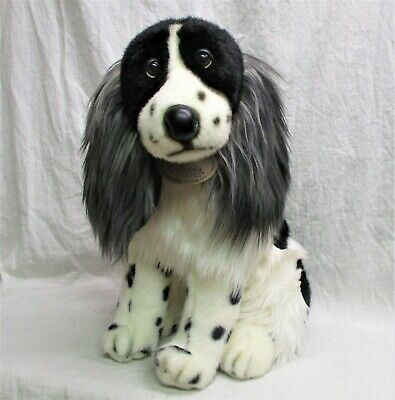 "English Springer Spaniel 16"" real plush Aurora Classic English Cocker Sp Dog vtg"