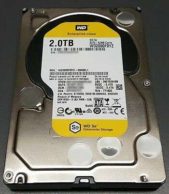 2TB Western digital hard drive WD2000F9YZ Enterprise Class HDD