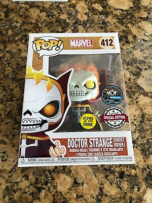 Funko Pop! Marvel Dr Strange (ghost rider) gitd LACC Exclusive - Condition is Ne