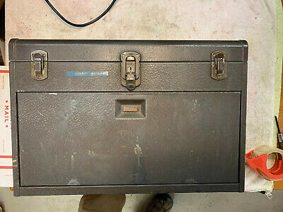 KENNEDY Machinist Metal Toolbox Mode 520, 7 Drawer Tool Box Vintage