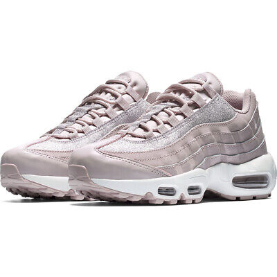 NIKE WOMENS AIR Max 95 SE Silver Pink Rose Shimmer Glitter