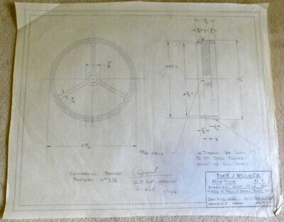 Original 1943 Roof Vent Ring Drawing - Wall Art For Man Cave, Den - 3/10