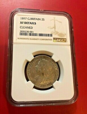 1897 Victoria 1 Florin 2 Shillings Great Britain Coin Ngc Xf Details Cleaned