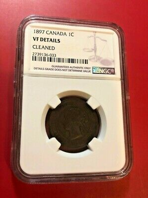 1897 Canada Large Cent Ngc Vf Details Cleaned