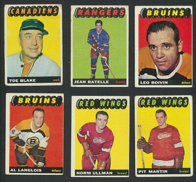 1965-66 Topps NHL Hockey Cards  U-Pick Choose Single Cards Complete Set