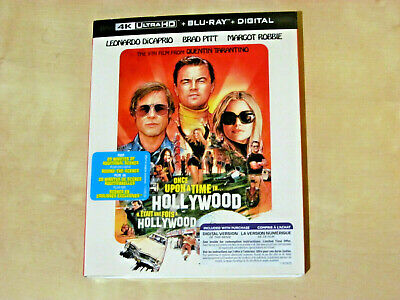 ONCE UPON A TIME IN HOLLYWOOD (4K Ultra HD, Blu-ray, Incl. Digital. Copy *NEW)