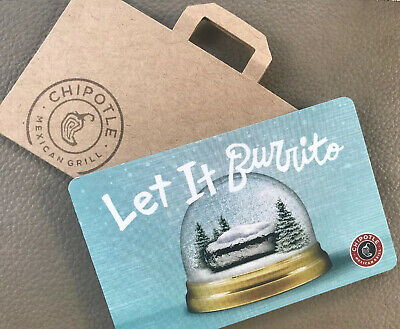 Chipotle Gift Card $30.00  * Great Holiday Gift!! Free Shiping