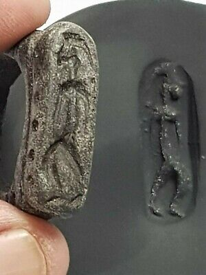 Fantastic Extremely Rare Ancient Roman Massive Stone Ring Seal/Soldier 14,9Gr 25