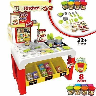 Rexco Play Dough Kitchen Cooker Kids Toy Clay Doh Pretend Role Cooking Game Set
