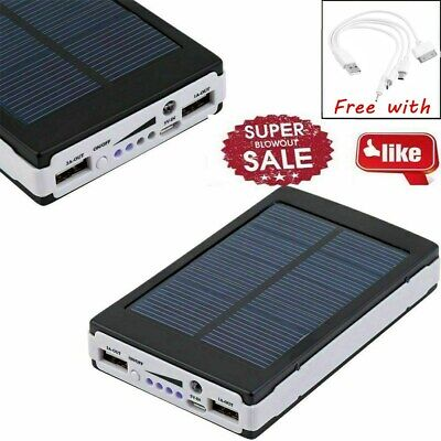 External Backup Battery Charger Solar Waterproof 50000mAh For USB Phone ON SALE