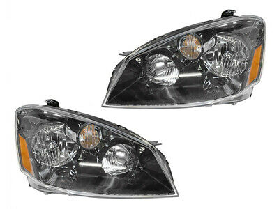 Headlights Headlamps Replacement Set for 2005 2006 Altima Driver Passenger Pair