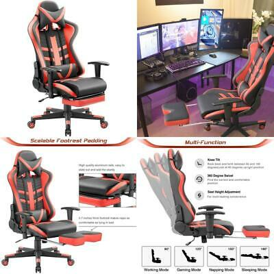 Homall Ergonomic High-Back Racing Pu Leather Bucket Seat Computer Swivel Office