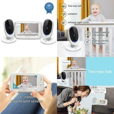 """Motorola Comfort 50-2 Video Baby Monitor 5"""" Lcd Color Display And 2 Cameras With"""