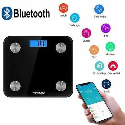 Heartline Bathroom Weighing Scales Smart Body Fat BMI Digital Bluetooth Weight