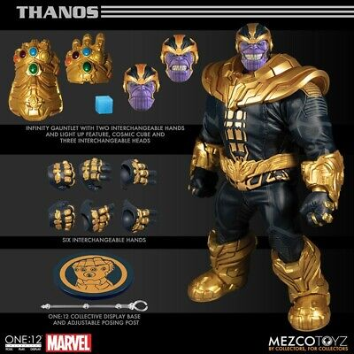 Marvel Universe figurine lumineuse 1/12 Thanos 21cm Marvel One:12 preorder preco
