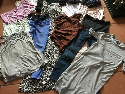 17 item Bundle Maternity clothes tops trousers dress size 6/8 NEW LOOK H&M ASOS
