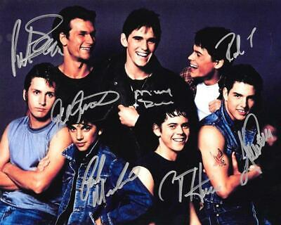 REPRINT - THE OUTSIDERS CAST Autographed Signed 8 x 10 Photo Poster RP