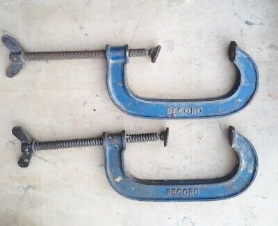 "Vintage RECORD 6""  G clamps"