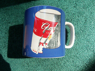 Silver Buffalo Campbells Soup 20oz Jumbo Ceramic Mug Andy Warhol Coffee Tea Cup Gift
